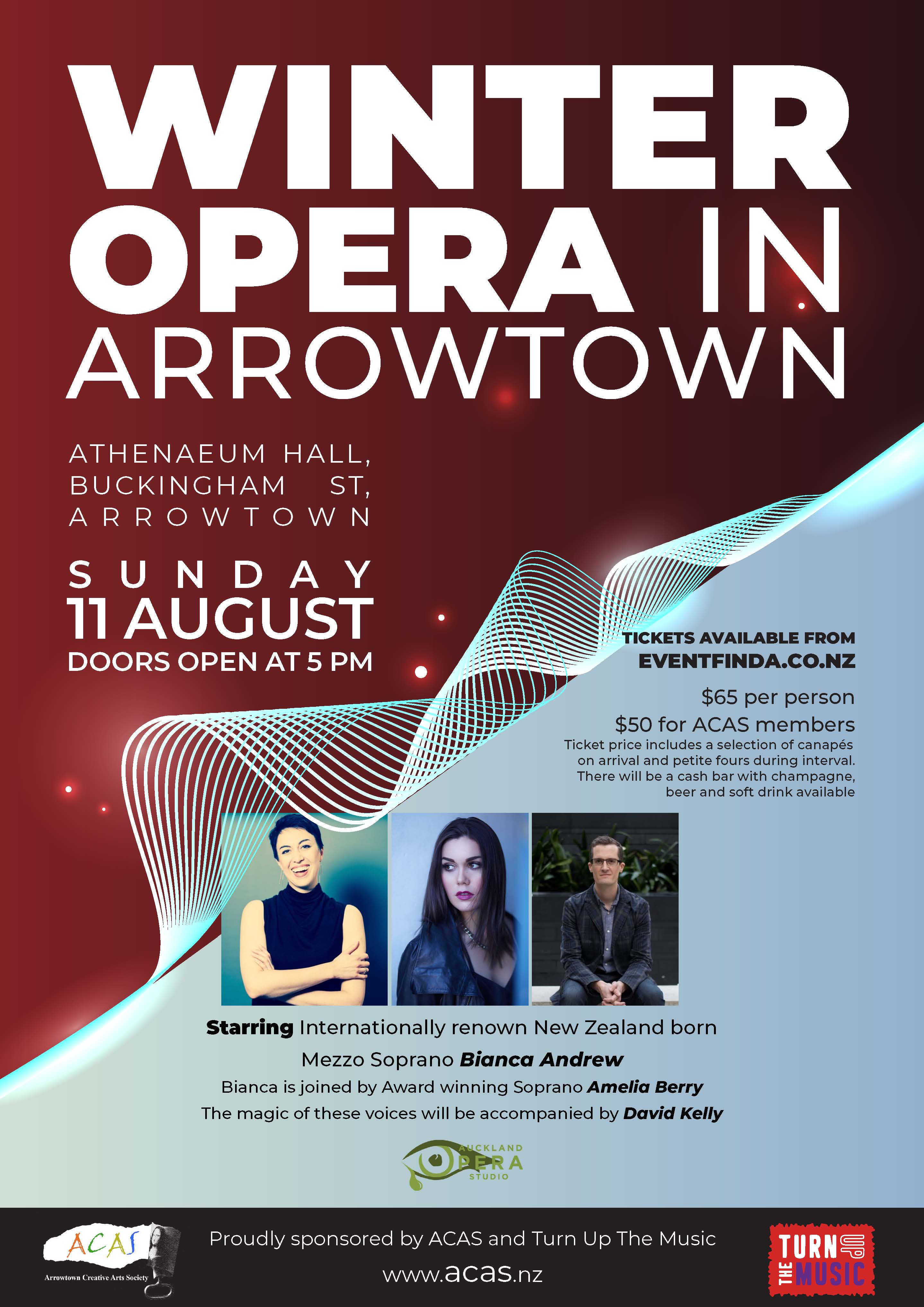 WINTER OPERA IN ARROWTOWN | TURN UP THE MUSIC BIANCA ANDREW